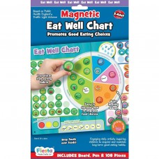 Set magnetic Mananca sanatos - Eat Well Chart Fiesta Crafts FCT-2946 Initiala