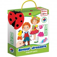 Joc educativ magnetic Snappy dressers Roter Kafer RK3204-04 Initiala