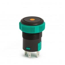 09151OR - Buton de comanda 12V ND, LED Portocaliu