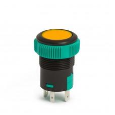 Întrerupător buton incorporabil 12V, LED Portocaliu