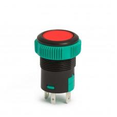 Întrerupător incorporabil 12V, LED Roşu