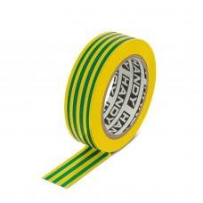 Banda izolatoare- 19 mm x 10 m - Galben/Verde