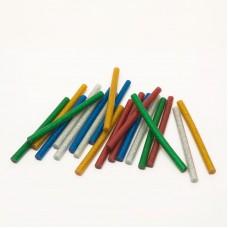 Baton termoadeziv - 7 mm - colorat, glitter