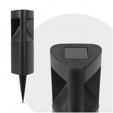 Garden of Eden - Lampă solară LED, model triunghiular, negru, material plastic, 280 x 65 x 65 mm