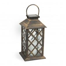 Garden of Eden - Lampă solară LED, imitaţie lumânare antică, suspendabilă, 14 x 14 x 27,5 cm