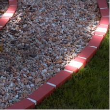 Garden of Eden - Piatră de bordură solară cu LED, 20 x 9 x 8,4 cm, alb cald - 10 buc./set