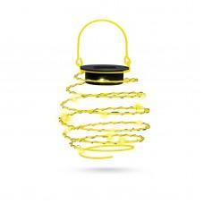 Garden of Eden - Lampă solară LED, model sferă spiralată, alb cald, 9 cm galben