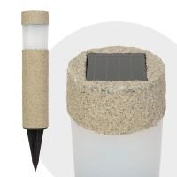 Lampa solara LED, Imitatie piatra, material plastic