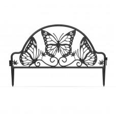 Garden of Eden - Bordură pentru pat de flori / gard - 49,5 x 31 cm - negru
