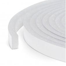 Delight - Profil de etanşare buretos, autoadeziv pt. ferestre şi uşi, 5 m- alb, 10 mm