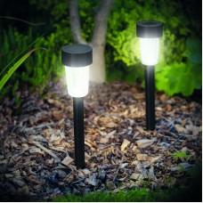 Garden of Eden - Lampă solară LED pentru exterior - 300 x 45 mm, Material plastic - negru