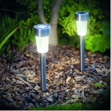 Lampă solară LED pentru exterior - 190 x 45 mm, metal