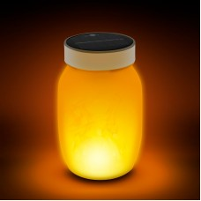 Lampă LED solară, model imitaţie de flacără - alb