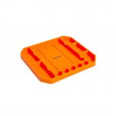 HANDY - Tavă cauciuc pentru unelte, cu compartimente şi riglă - 26 x 23,5 x 2,5 cm
