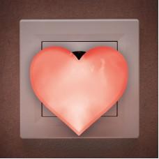 Lumină de veghe model inimă (roşu)