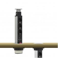 DISTRIBUITOR CAMUFLABIL TRIPLU, PORT 2 x USB, 1.5M