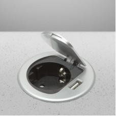 Priză incorporabila, cu cablu + USB