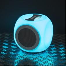 Difuzor portabil, fara fir, BLUETOOTH, cu iluminare in culori alternante