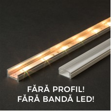 Ecran transparent pt. profil aluminiu LED - 1000 mm