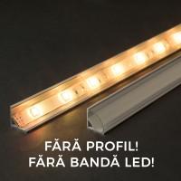 Ecran transparent pt. profil aluminiu LED - 2000 mm