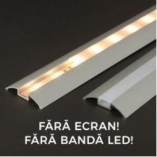 Profil aluminiu pt. benzi LED, 56x10 mm, 1m