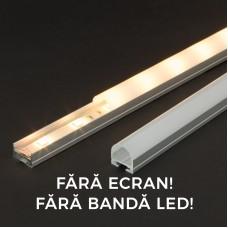 Profil aluminiu pt. benzi LED, 19x11 mm, 1m