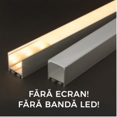 Profil aluminiu pt. benzi LED, 35x40 mm, 1m