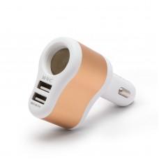 Priză pt. brichetă + 2 x USB 3,1A - alb