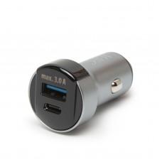 DELIGHT - Adaptor brichetă - type C / PD și USB, cu încărcare rapidă