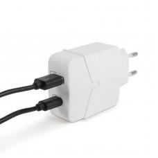 Adaptor de retea USB + Type-C PD18W cu incarcare rapida - alb