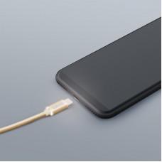 Cablu de date - USB Type C - cu lumină LED, auriu, 1 m