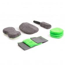 Set burete auto cu microfibre -  9 piese/set