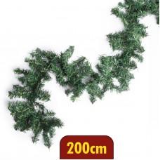 Ghirlanda, brad verde, bogat - 200 cm