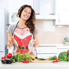 Şorţ de bucătărie, model Crăciun - dame