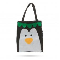 Sacoşă pt. cadouri - model pinguin