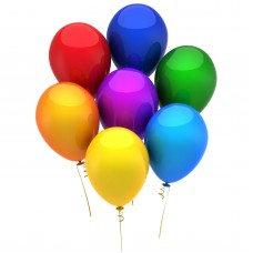 Set baloane, colorate, 15 buc./pachet