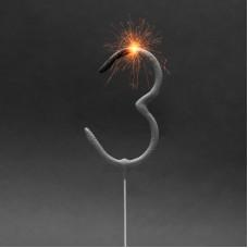 Artificii pt. tort, cifra 3, 16 cm