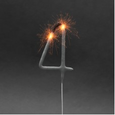Artificii pt. tort, cifra 4, 16 cm