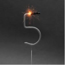 Artificii pt. tort, cifra 5, 16 cm