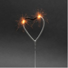 Artificii pt. tort, model inimă, 16 cm