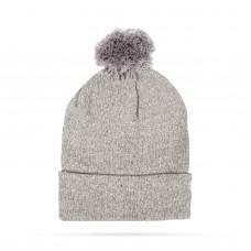 Top Ten - Şapcă tricotată de iarnă - Gri - cu pompon
