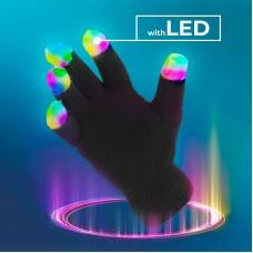 Mănuși de iarnă din acril, cu LED-uri