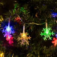 Şir lumini LED - Fulgi de zăpadă