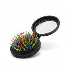 Perie de păr pliantă cu oglindă