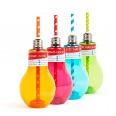 Pahare pentru petrecere cu LED în formă de becuri - 400 ml