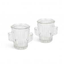 """Set pahare de sticla - 40 ml - model """"cactus"""" - 2 buc. /pachet"""