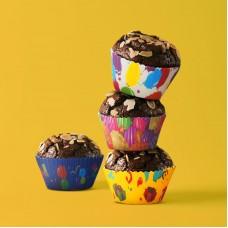Family Pound - Set gofraje de hârtie pt. muffin - model party- 100 buc. / pachet