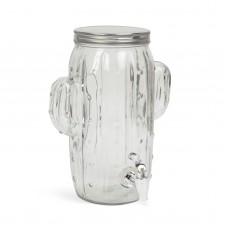 "Dozator bauturi cu robinet, sticla, model ""Cactus"" - 3,6 l"