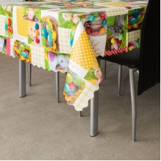"""Family Pound - Muşama, faţă de masă - model """" Mozaic de Paşti"""" - 100 x 140 cm"""