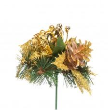 Compoziţie decorativă de Crăciun - 21 cm - auriu